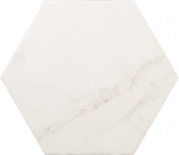 Equipe Carrara Porc Hexagon Carrara Matt 17,5 x 20 cm