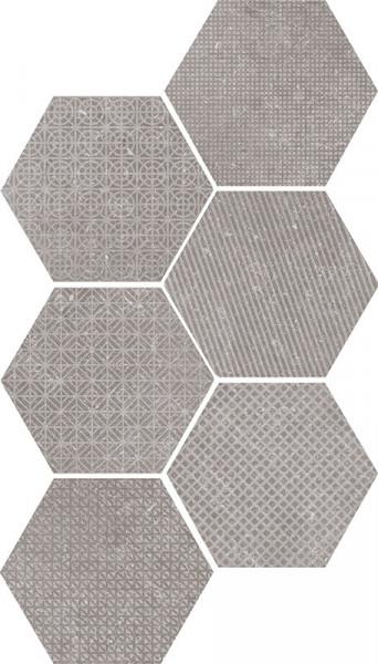 Equipe Coralstone Melange Grey Hexagon 29,2 x 25,4 cm