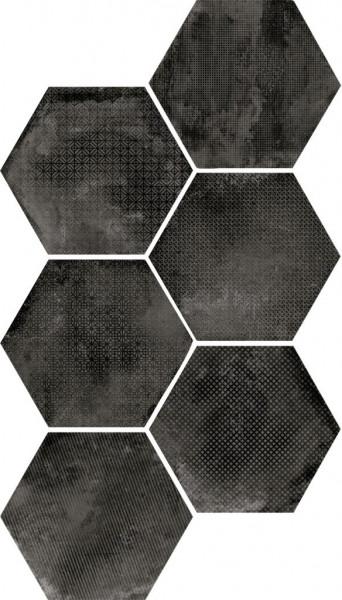 Equipe Urban Hexagon Melange Dark 29,2 x 25,4 cm