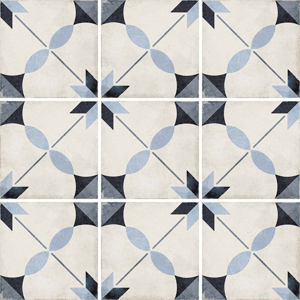 Equipe Art Nouveau Arcade Blue 20 x 20 cm