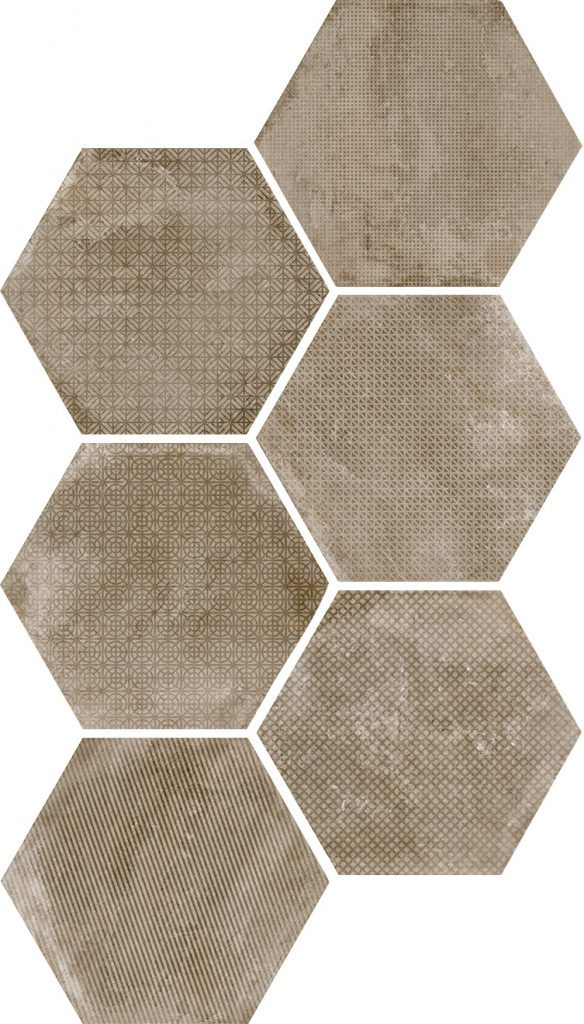 Equipe Urban Hexagon Melange Nut 29,2 x 25,4 cm