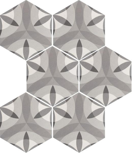 Equipe Hexatile Nature B&W 17,5 x 20 cm