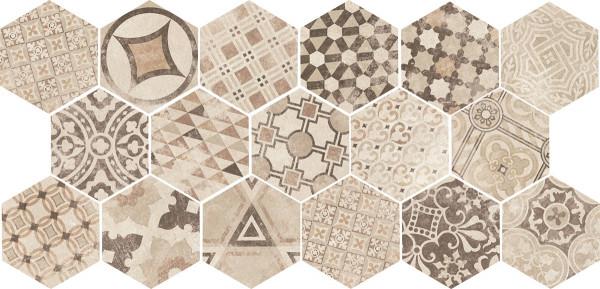 Equipe Hexatile Cement Garden Sand 17,5 x 20 cm