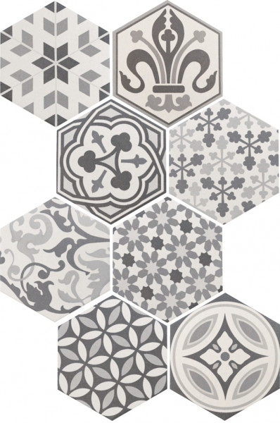 Equipe Hexatile Harmony B&W 17,5 x 20 cm