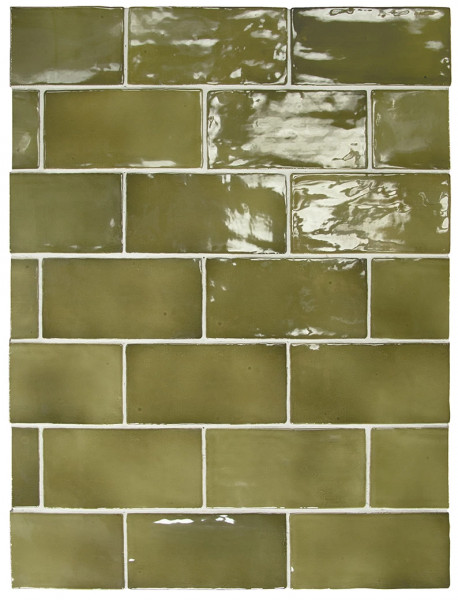Equipe Manacor Basil Green 7,5 x 15 cm