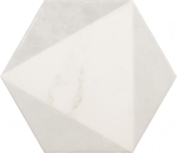 Equipe Carrara Porc Hexagon Peak 17,5 x 20 cm