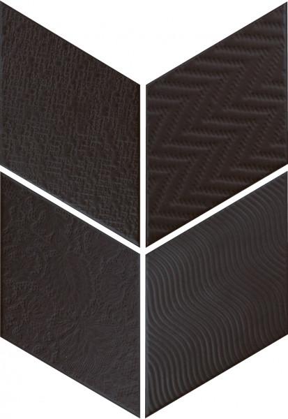 Equipe Rhombus Black 14 x 24 cm