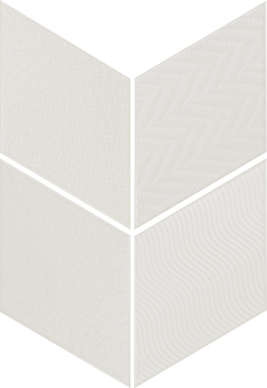 Equipe Rhombus White 14 x 24 cm