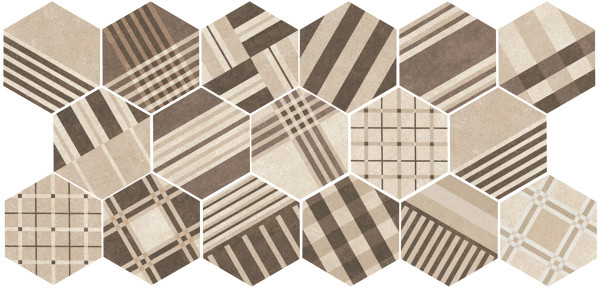 Equipe Hexatile Cement Geo Sand 17,5 x 20 cm