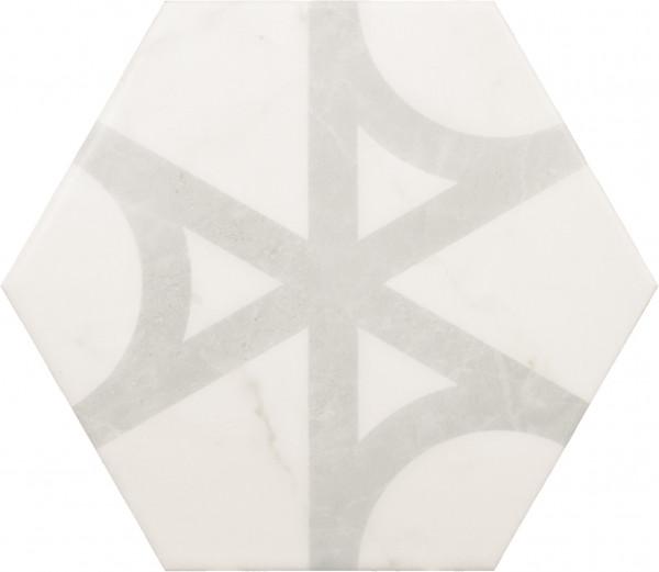 Equipe Carrara Porc Hexagon Flow 17,5 x 20 cm